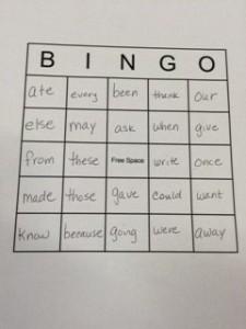 Bingo board