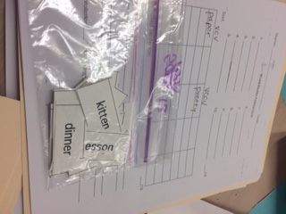 Bag of teacher words on card stock and also blank assessment.